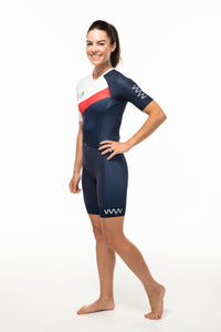 women's soglia aero+sleeved tri suit 2.5 - americano