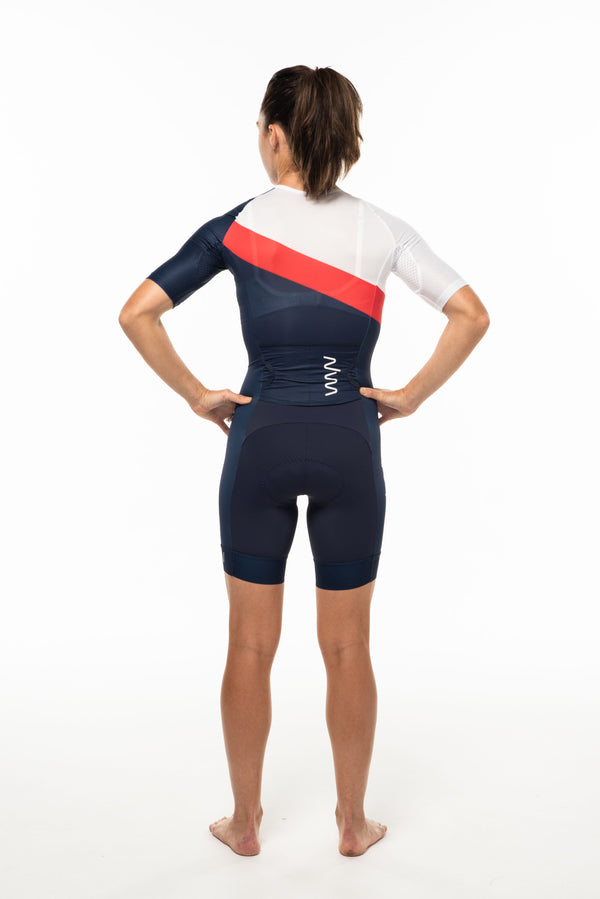 women's soglia aero+sleeved tri suit 2.5 - americano *FINAL SALE*