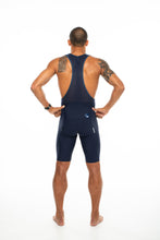 Load image into Gallery viewer, men's LUCEO bib shorts - Navy w/blue logo
