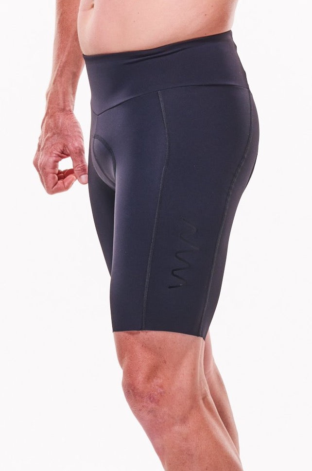mens spin to WYN cycling shorts - black