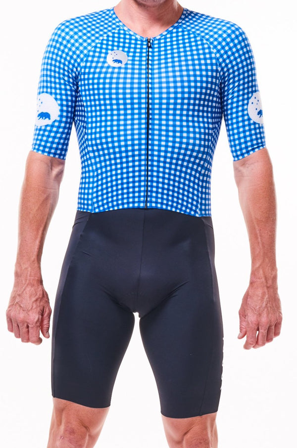 men's MOD velocity+ triathlon suit - classic blue