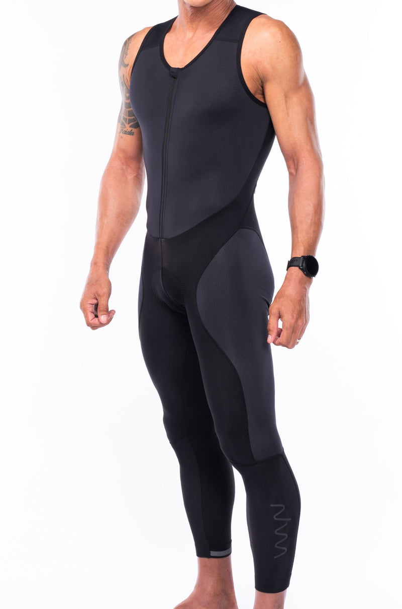 men's thermal bib tights - black