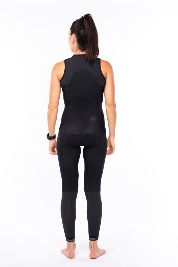 women's thermal bib tights - black