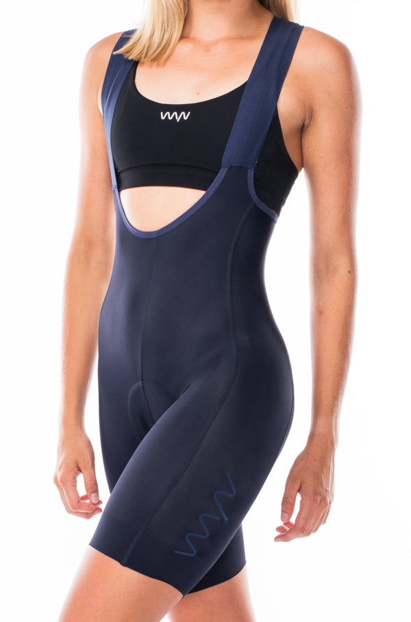 women's velocity 2.0 cycling bib shorts - deep navy