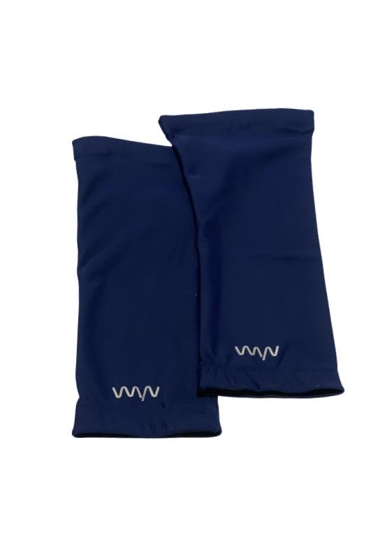 women's knee warmers - deep navy