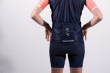 women's navy cycling wind vest with reflective pocket