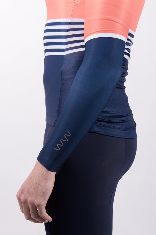men's navy thermal arm warmers