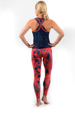 Load image into Gallery viewer, women's coral jungle quick dry breathable leggings