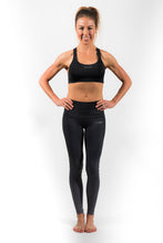 Load image into Gallery viewer, supportive black sports bra