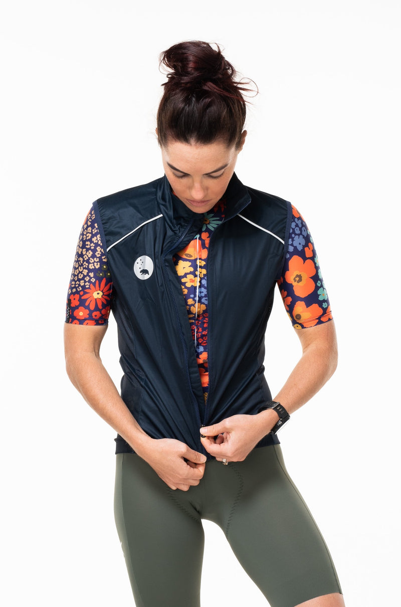 women's deep navy windstop gilet