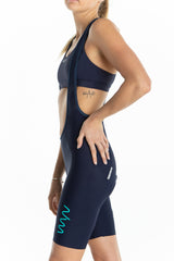 women's LUCEO bib shorts - navy