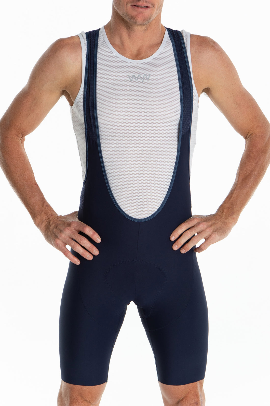 men's LUCEO bib shorts - navy/teal