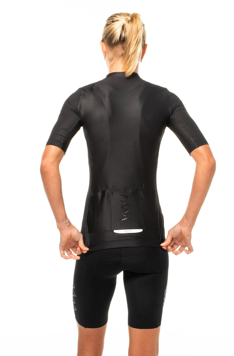 women's LUCEO hex racer cycling jersey - onyx