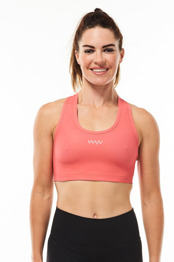 Racergirl racerback sports bra - hot coral