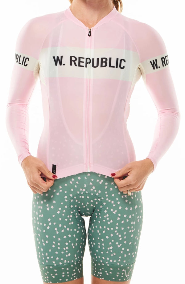 ALL-NEW: keep the peace summer long sleeve cycling jersey - carly