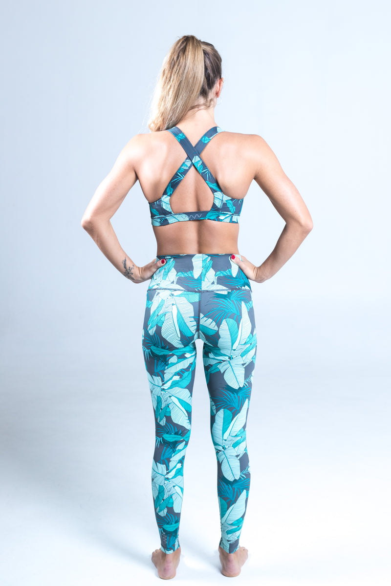 All. The. Things. leggings - teal tropics *FINAL SALE*