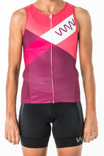 Load image into Gallery viewer, women's carrefour sleeveless triathlon top - solana
