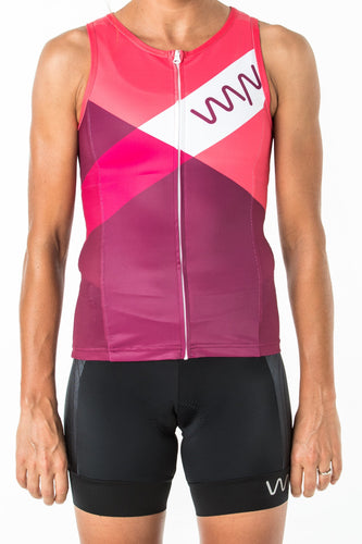 women's carrefour sleeveless triathlon top - solana