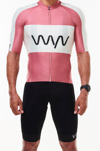 keep the peace premium cycling jersey - code red