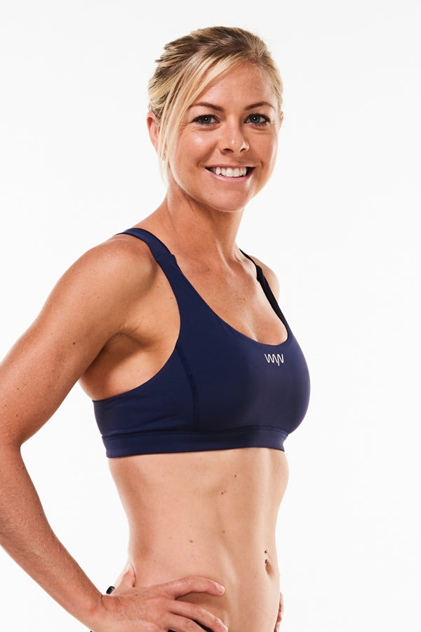 Do. It. Now. sports bra - navy