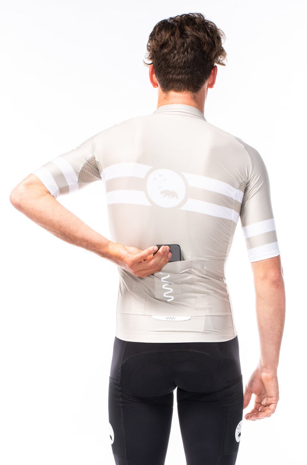 men's mojave premium cycling jersey - sand