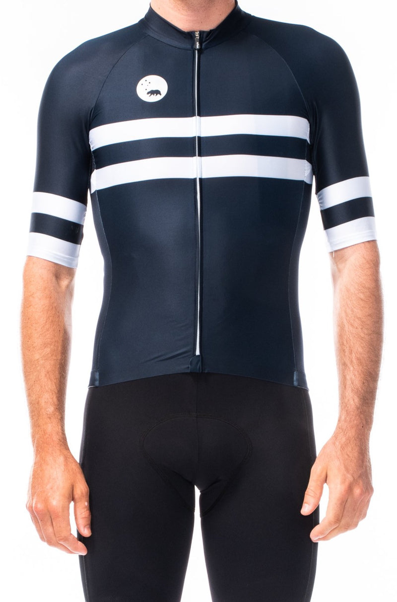 men's mojave premium cycling jersey - midnight blue