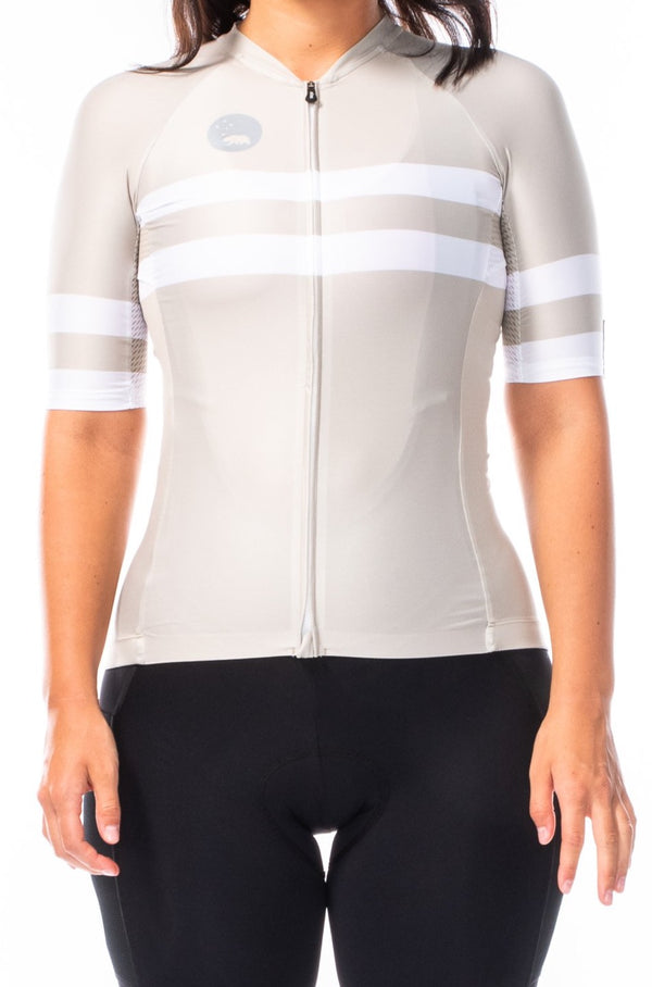 women's mojave premium cycling jersey - sand