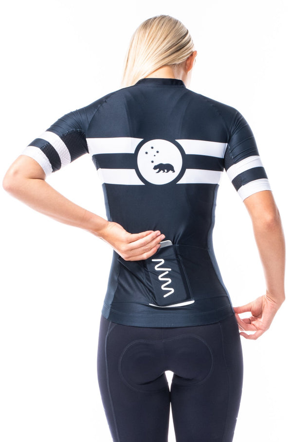 women's mojave premium cycling jersey - midnight blue