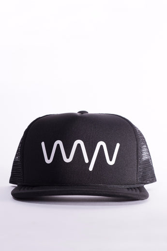 WYN black essentials trucker hat