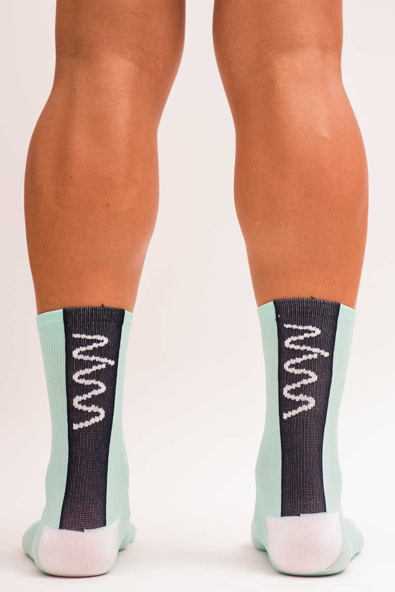 men's mint cycling socks