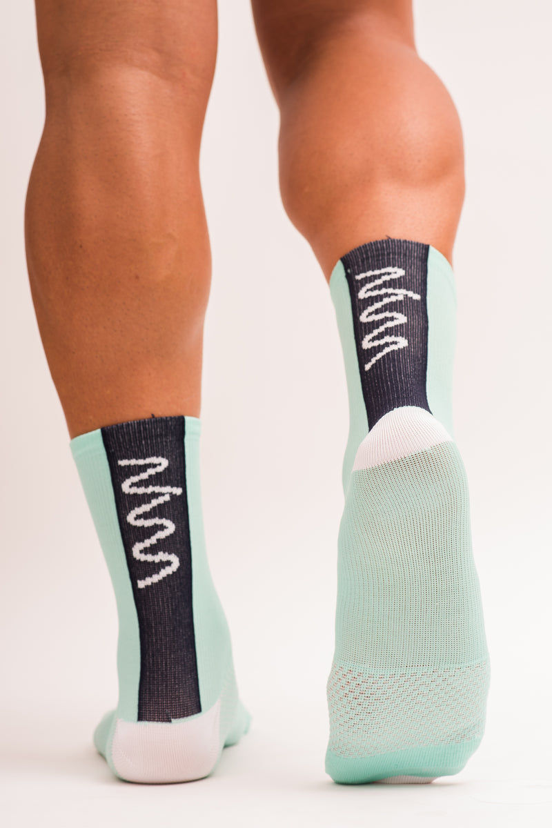 men's mint and navy socks
