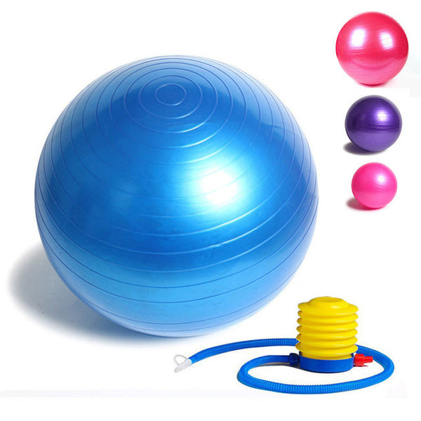 Fitness Yoga Ball 85cm Smooth Balance Fitness Gym Exercise Ball With Pump Balance Pilates Balls