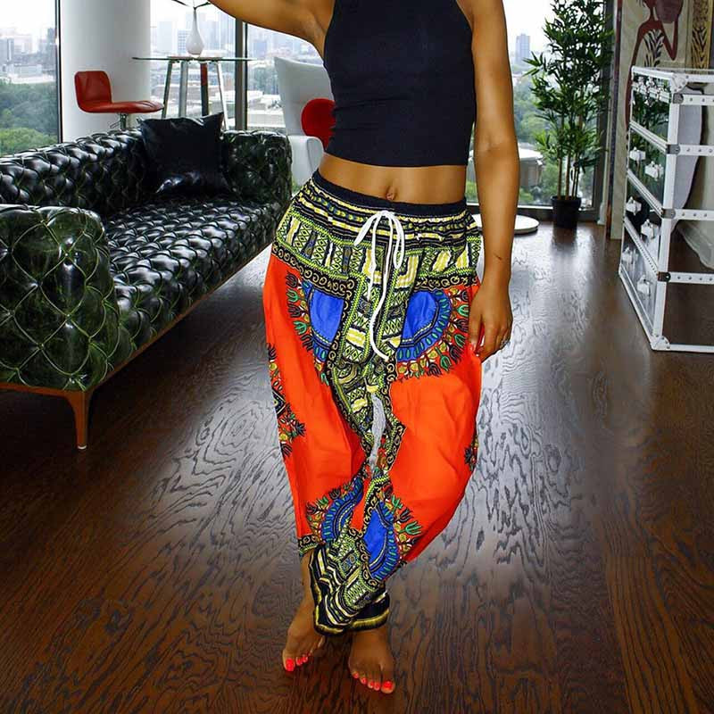 Dashiki Women's Yoga Pants New Brand Fitness Sports Style For Female Leggings Plus Size Dance Bloomers YK00