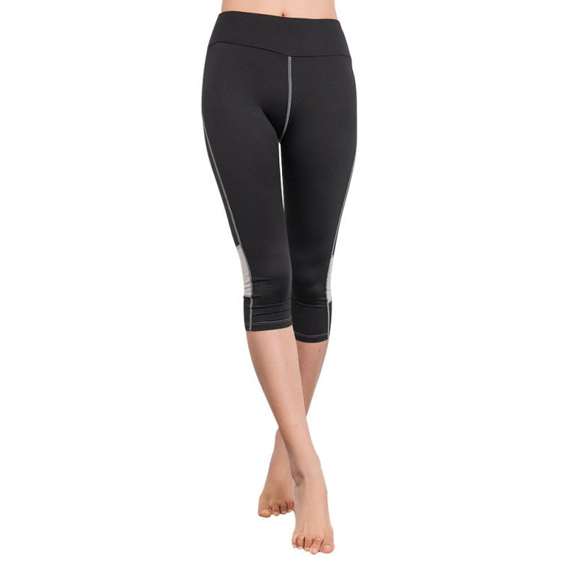 Brand Women Sports Leggings Capris Fitness Running Gym Legging Yoga Cropped Pants High Elastic Slim Stretch Workout Pants