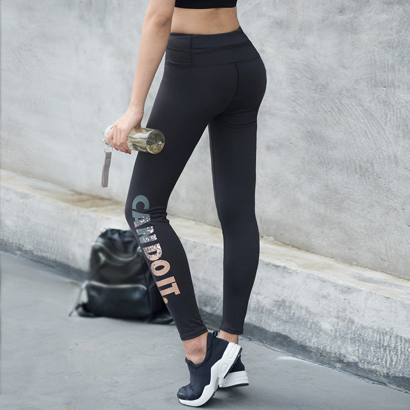 Can Do It - Yoga Sports Leggings For Woman Sports Tight Yoga Leggings Women Running Tights Pants P135