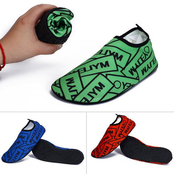 1 Pair Water Baseball Running Sports Skin Sock Letter Shoes Beach Yoga Pool Fitness Gym Shoes