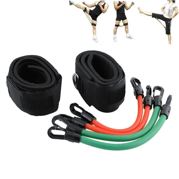 6 pcs/set Leg Thigh Latex Resistance Band Gym Yoga Exercise Strong Tube Ankle Straps Pilates Workout Fitness Tools