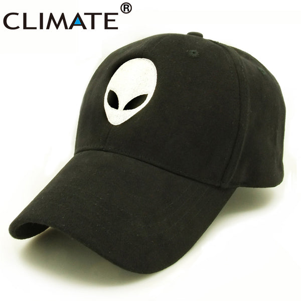 CLIMATE Aliens Outstar UFO Fans Family Baseball Caps Black Space Sport Active Hat for Kids Children Teenagers Adult Men Women