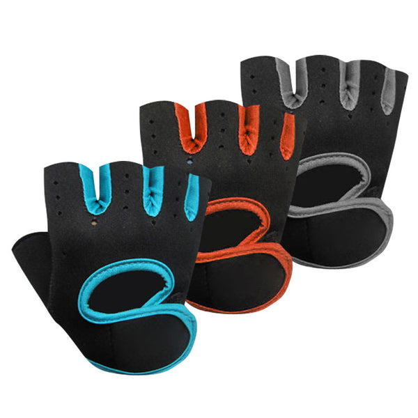 1 Pair Anti-skid Sports Gloves Fitness Yoga Exercise Training Gym Half Finger Weightlifting Gloves Multifunction for Men Women