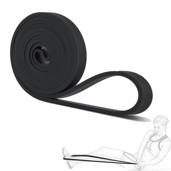 High Quality Pull Up Resistance Latex Expander Power Bands CrossFit Loop Rubber Bands Yoga Asist Bands 2080*4.5*21 mm Black