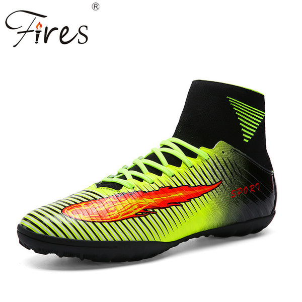 Fires Top Quality Plus Size 35-45 Football Boots Men Pressional  Soccer Shoes Cleats Outdoor Trainer High Ankle Football Shoes