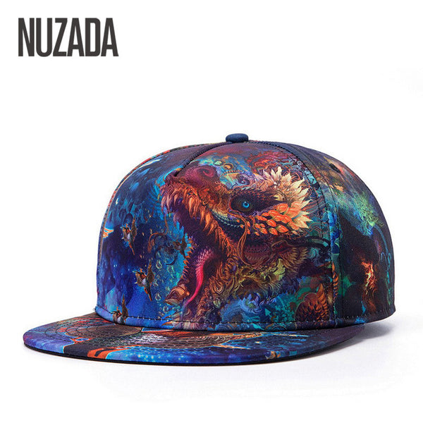 Brands NUZADA 3D Color Printing Pattern Men Women Sports Hat Hats Baseball Cap Fashion trends Hip Hop Snapback Caps Bone