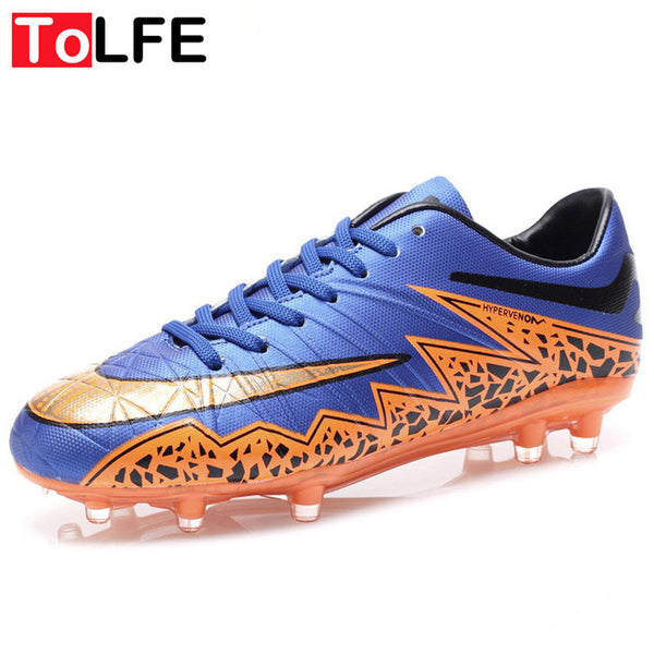 7 Colors Outdoor Football Shoes Grass Lawn Soccer Shoes Cleats For Adults Brand Children Sports Football Boots Men Size 35-44
