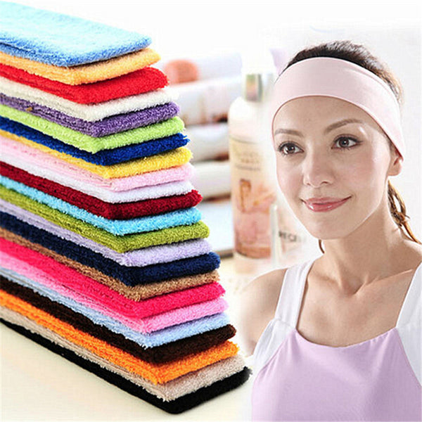 2Pcs/lot Women Multicolor Headband Headwear Durable Sweat Absorbent Yoga Towel Hair Band for Yoga and Pilates Exercise