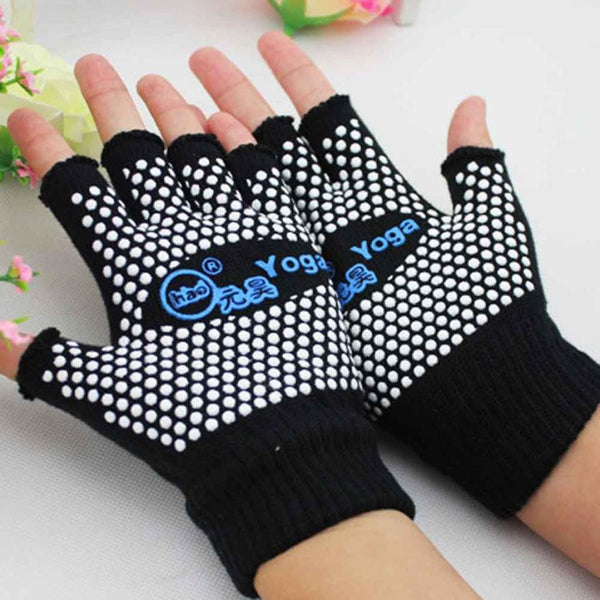 2016 New Fashion Sports Fittness Gloves For Women Half Fingerless Mittens Yoga Sports Gloves Anti Slip Semi Guantes Mujer