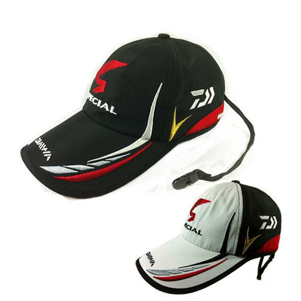 Adult Men Adjustable Breathable Fishing Daiwa Japan Sunshade Sport Baseball Fishermen Hat Cap Black Special Bucket Hat With Logo