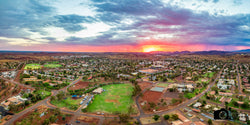 Newman Aerial Sunset
