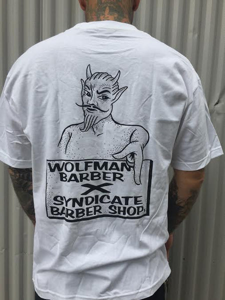 Wolfman Barber X Syndicate Barber Shop T-Shirt - Short Sleeve / Long Sleeve
