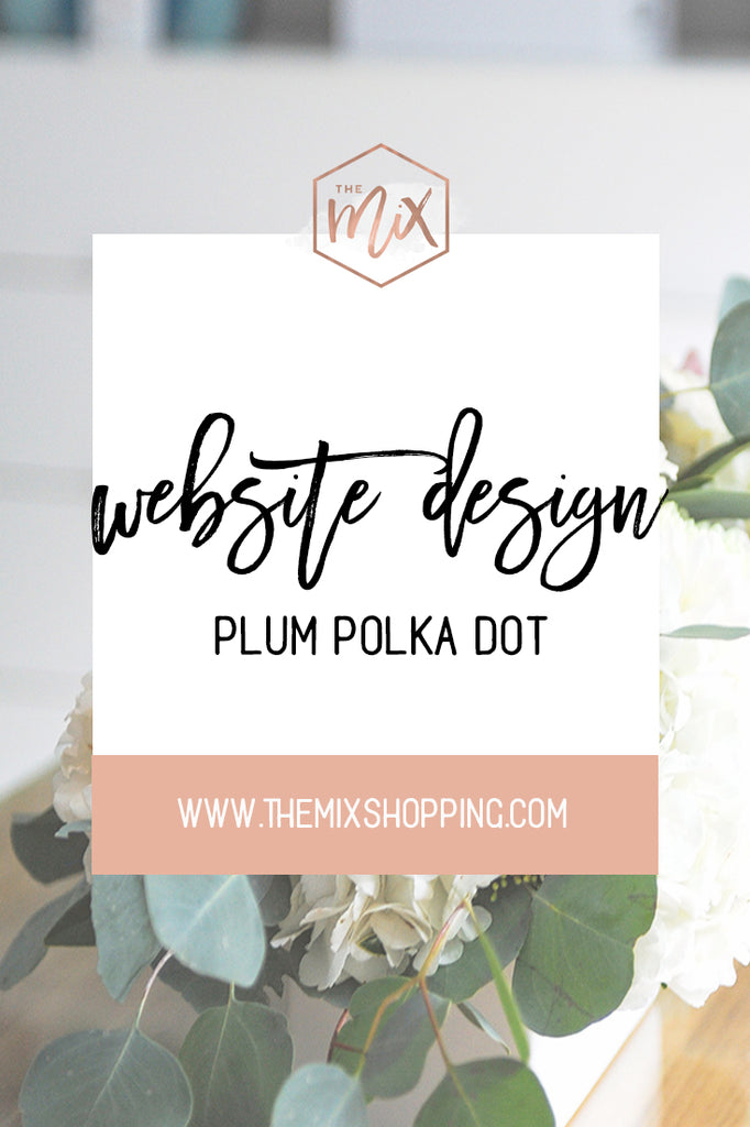 webstie design services plum polka dot