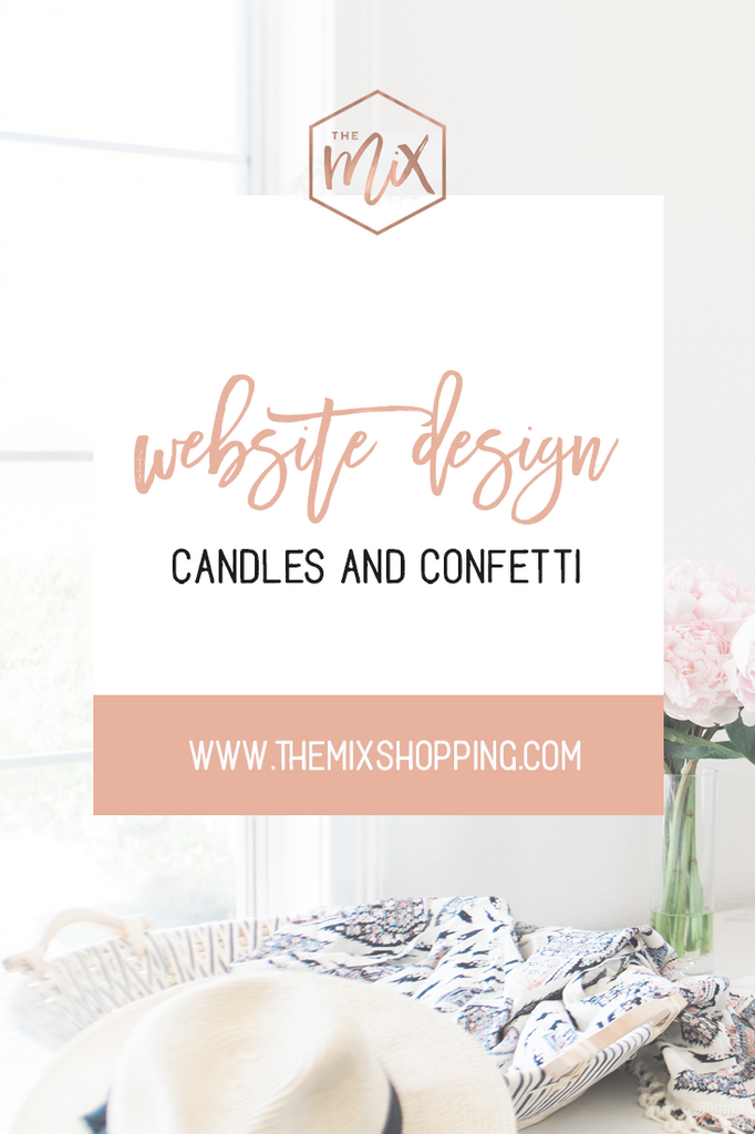 Website Design for Candles and Confetti